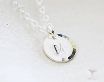 Bridesmaid Personalized Necklace - Sterling Silver Initial Necklace - Monogram Necklace