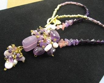Lavender Rose necklace