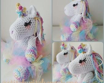 Free Amigurumi Unicorn Pattern : Amigurumi pattern unicorn keychain bag charm amiguroom toys