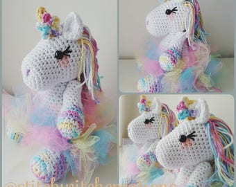 Small Lavender Unicorn Crochet Pattern - Amigurumi PDF Instant Download