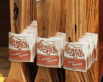 Cypress Wooden Spoons are handmade in Louisiana by Real Cajuns.