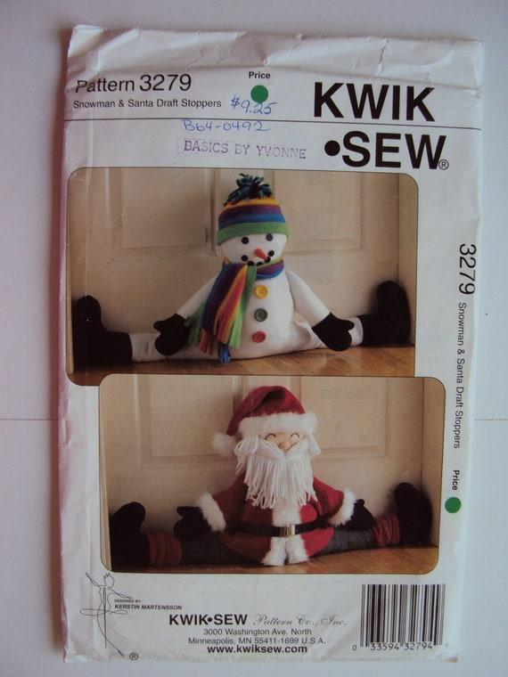 Santa & snowmen draft stoppers pattern Kwik Sew 3279 one size