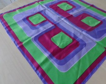 Scarf. Geometric Bright Scarf - squares - very colorful