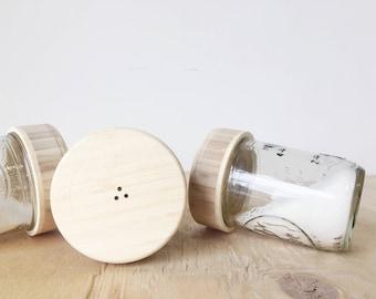 Bamboo Shaker Tops / Mason Jar Storage