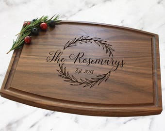 Wedding Gift - Cheese Board - Personalized Cutting Board - Arched Cutting Board - Gift For Couple - Housewarming Gift - AWB105