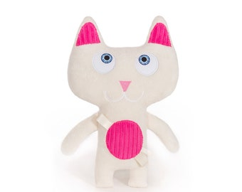 Ninja Kitty – Offwhite, Soft toy, Cuddly toy, Handcrafted