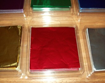 """Foil Candy Wrappers, 3"""" by 3"""" Square, Package of 125 Wrappers, Assorted Color Choices"""