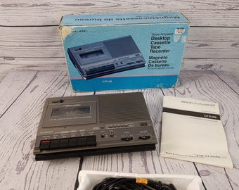 Vintage Realistic Voice Actuated Desktop Cassette Tape Recorder CTR-69 Voice Recorder in Box