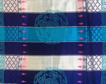 Vintage Chinese Silk Brocade Fabric