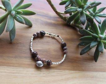 Simply Love Bracelet - Karen Hill Tribe Silver - Rhodonite