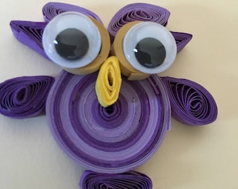 Quilled owl card