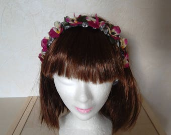 Handmade headband, bridal party headband flower Crown