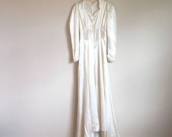 1930's Satin Wedding Gown *As Is*