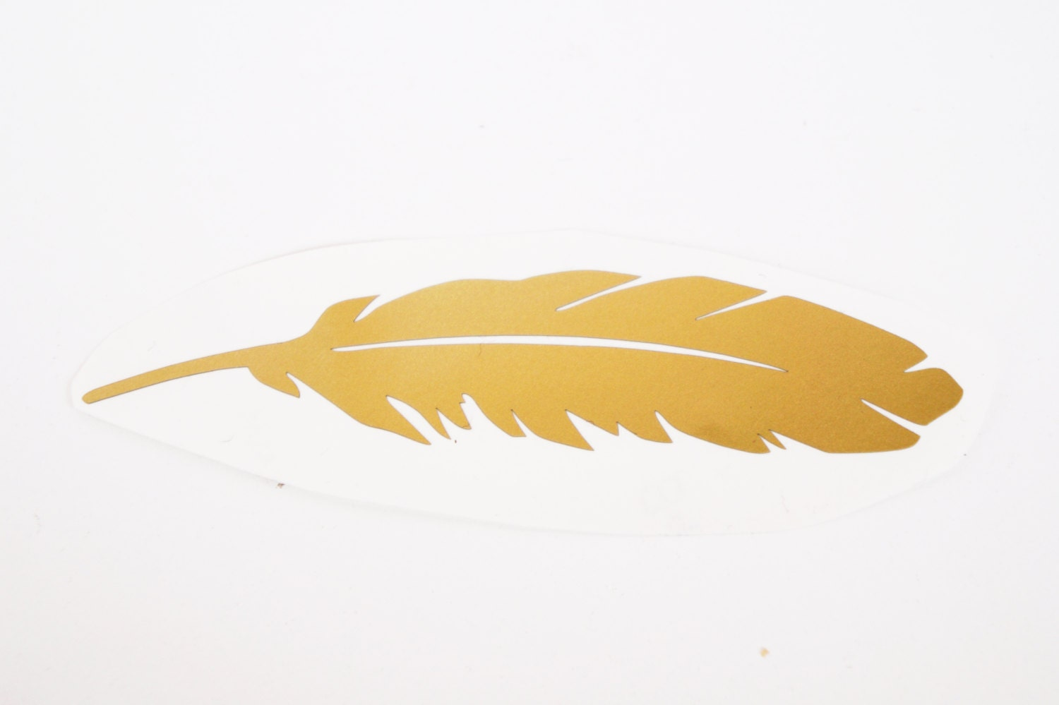 30 Feather Stickers, Gold Feather Decal, Wedding Invitations, Gold ...