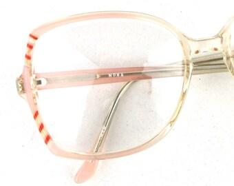 vintage. glasses. pink. retro. 80s. for women. blush pink. eye glasses. vintage glasses. oversize. vintage frames. eyeglasses. cute.