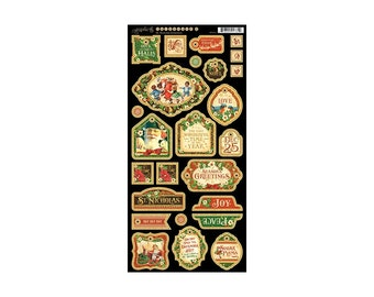 Graphic 45 St Nicholas Collection Chipboard # 1