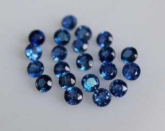Natural  Kyanite Round Faceted 5 MM Top Quality-Natural Kyanite Gemstones