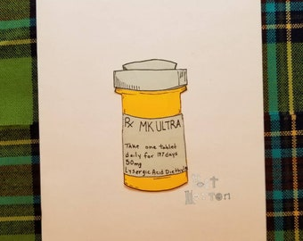 MK Ultra Post-it Print