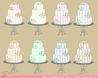 Beautiful Cakes Clip Art Set