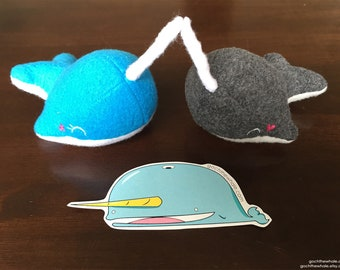 Oo the Narwhal Sticker