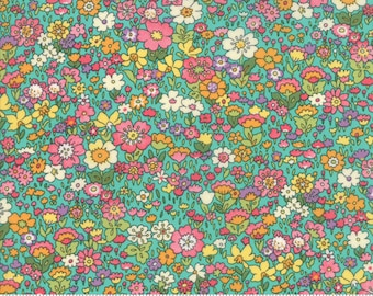 Kenwood in Turquoise - Regent Street Lawns 2018 - Cotton Lawn Fabric - Moda Fabrics - Floral - 33325 14 - Tiny Floral