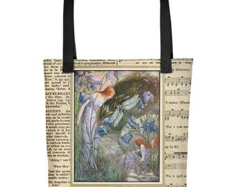 The Fairy & The Dragonfly composition- Travel/Tote bag