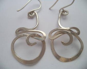 Knot Earring Silver. Dangle Earrings· dangle knot earrings· Statement earrings· Copper knot earrings· Brass knot earring.
