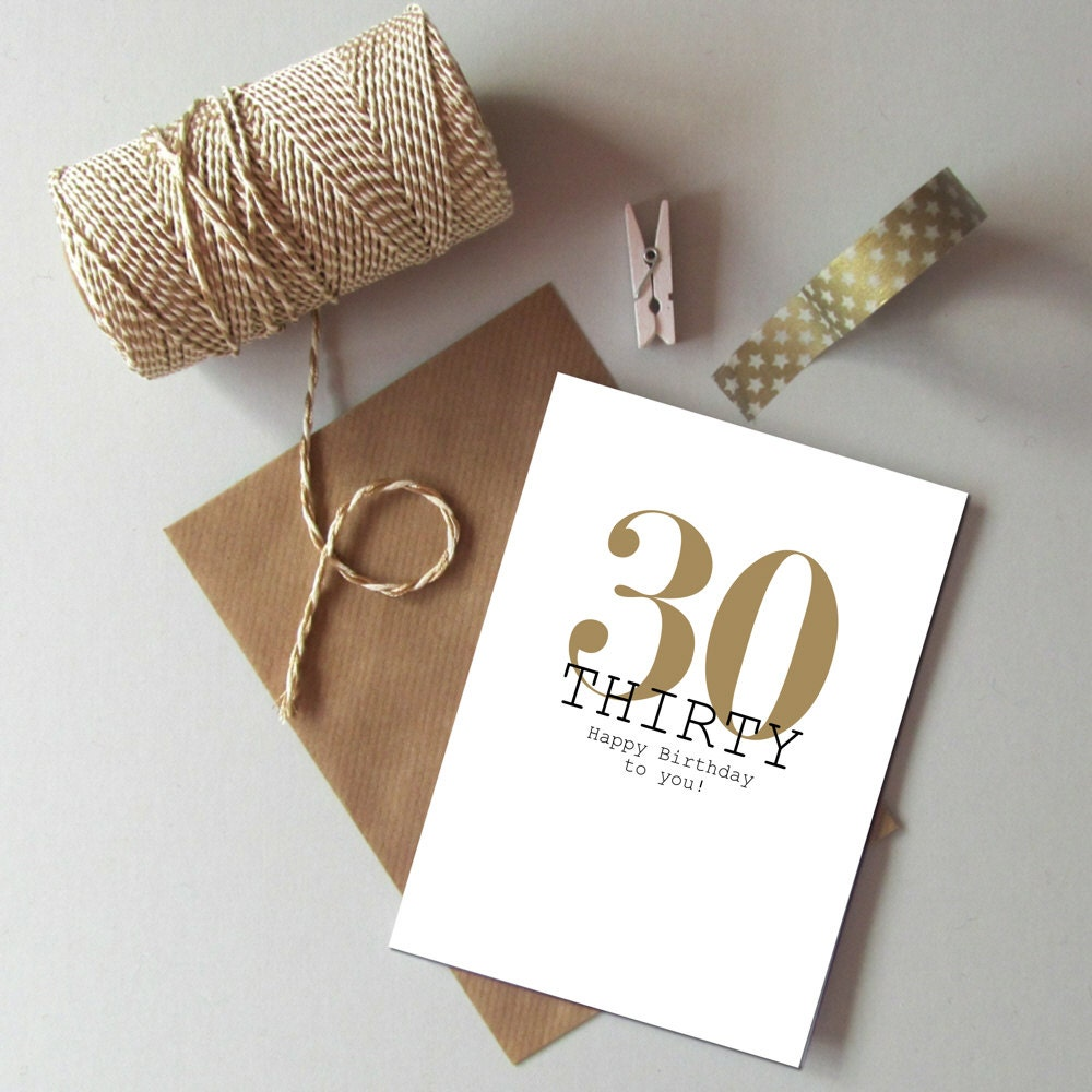 30th birthday card happy 30th birthday thirty today card zoom bookmarktalkfo Choice Image
