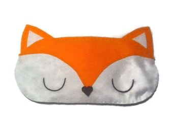 Fox eye mask, Fox sleep mask, animal sleep mask felt eye mask sleeping aid, Woodland sleep mask