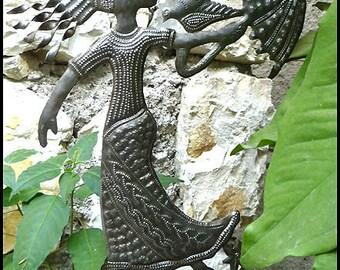 Metal Art, Garden Decor, Garden Plant Stick, Plant Marker, Steel Drum Art, Yard Art, Metal Garden Art, Outdoor Decor, Plant Stake. PS-1771