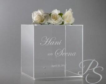 Personalized Wedding Card Box with lock Money Box unique