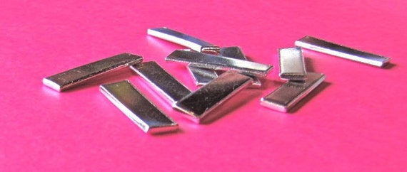 """24 Blanks 1/4"""" x  1"""" 14 Gauge Heavy Weight Rectangles Tumble Polished or Ear Cuffs Food Safe Aluminum - Tumbled- QTY 24"""