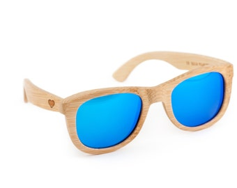 Heart Wooden Sunglasses, Bamboo Sunglasses, Groomsmen Gifts, Personalized and Customized Sunglasses
