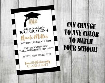 Graduation Invitation, Graduation Party Invitation, Graduation Party, Graduation Invite