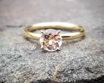 Morganite Engagement Ring, Morganite Solitaire Ring, Morganite Engagement Ring Yellow Gold, Morganite Engagement Rings, Morganite Gemstone