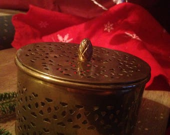 Beautiful Vintage Brass Container