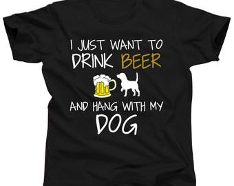 Dog Lover T Shirt - Beer Dog Shirt - Dog Clothes for Women - Dog Trainer Gifts - Dog Dad Shirt - Dog Gear - Dog Tshirts for People