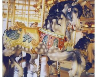 Polaroid Photograph - Carousel - Horse- Fair - Carnival - Pony - Gallop - Alicia Bock - Fine Art Photography