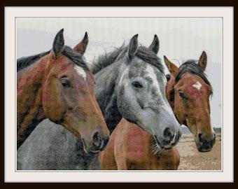 Horse Cross Stitch Pattern - Horse - Barn - Pony - PDF Download
