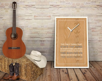 Tracy Lawrence - Lyric Poster Print - Time Marches On
