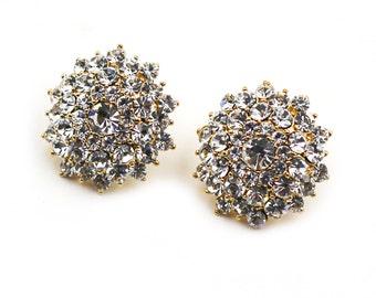 Round Crystal silver Swarovski crystal Earrings