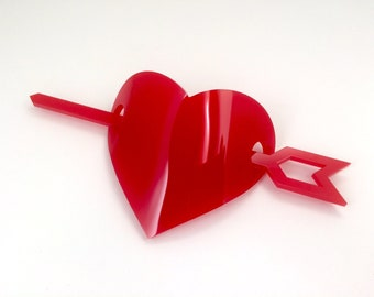 Cupid's Heart Barrette - Free Shipping