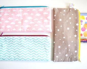 Pen case, cloth case, pencil purse, handbag bag, makeup pouch, pouch, gift for women.