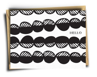Hello Card | Greeting Card | Everyday | Abstract Print | Blank Inside