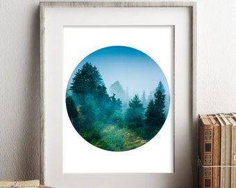 Forest Art Print, Printable Wall Art, Rustic Wall Art, Instant Download Print