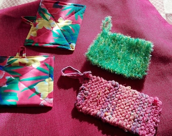 Lot tawashi (sponges and paper towel) recycled