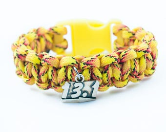 13.1 Bracelet, Marathoner Bracelet, Athletic Bracelet, Marathon Runner, Running Accessory, Paracord Bracelet, Race Jewelry, Gift for Runners