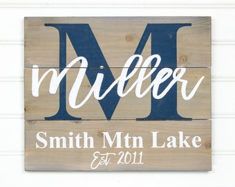 Lake House Sign - Lake House Decor - Lake House - Personalized Sign -Lake Sign -Lake House Signs -Cabin Sign -Housewarming Gift -Cabin Decor