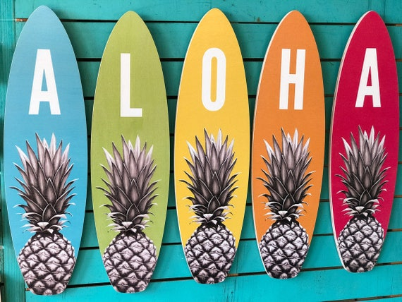 Aloha Large Surfboard Set beach tropical pineapple