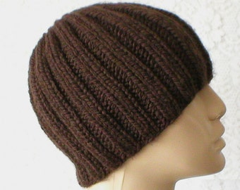 Brown beanie hat, skull cap, toque, brown hat, beanie hat, winter hat, mens womens knit hat, chemo cap, ski snowboard, skateboard, hiking